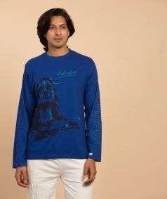 Unisex Adiyogi T-Shirt - Blue