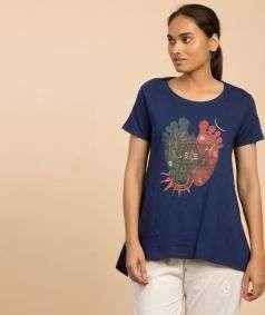Women Organic Cotton Padam T-Shirt