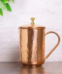 Hammered Copper Water Jug, 1.5 Liters