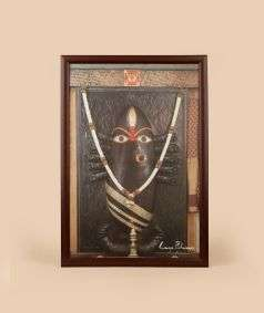 Linga Bhairavi Photo - Black 12x18 (With Frame)