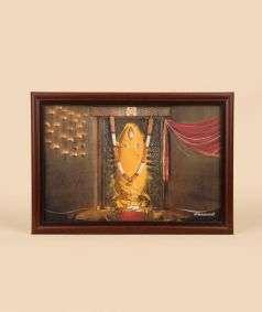 Linga Bhairavi Photo - Turmeric 6x8 (With Frame)