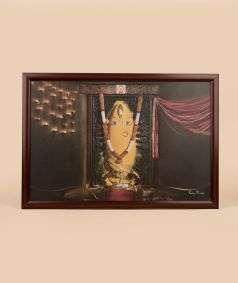 Linga Bhairavi Photo - Turmeric 15x10 (With Frame)