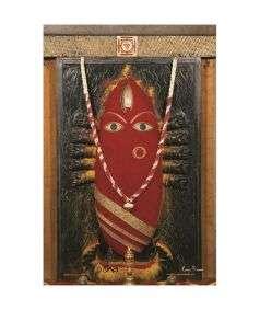 Linga Bhairavi Photo - Kumkum 8x12 (With Frame)