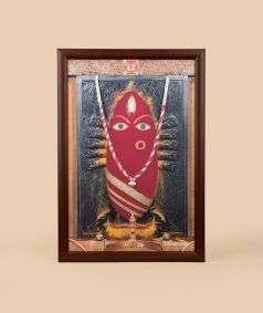 Linga Bhairavi Photo - Kumkum 12x18 (With Frame)