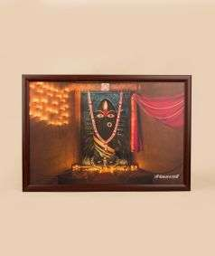 Linga Bhairavi Photo - Black 18x12 (With Frame)