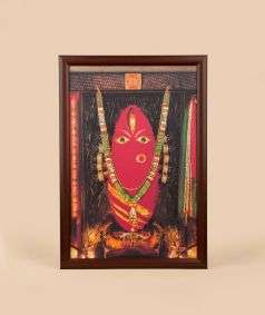 Linga Bhairavi Photo with Bangles - Kumkum (8x12) with frame