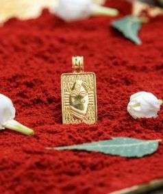 Linga Bhairavi 22KT Gold Pendant - 8 gm (Plain)