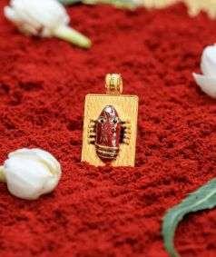 Linga Bhairavi 22 KT Gold Pendant - 4 gm (Kumkum)