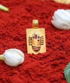 Linga Bhairavi 22KT Gold Pendant - 4 gm (Sandal)