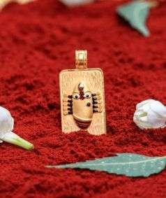 Linga Bhairavi 22KT Gold Pendant - 16 gm (Sandal)