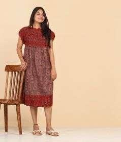 Womens Ajrakh print Dress Style 2