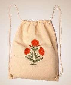 Cotton Backpack Bag-1