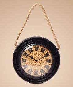 Complete Wooden Clock with Rope