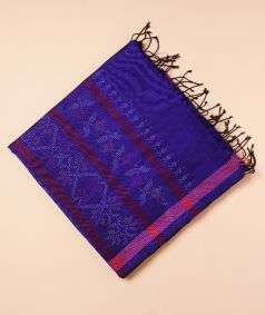 Blue Tangaliya Woven Silk Saree