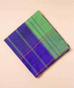 Blue And Light Green Koorainadu Silk Cotton Saree
