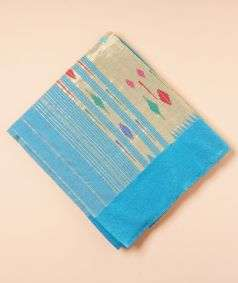 Light Blue Paithani Silk Saree